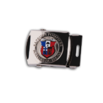 AHK Solutions - Badges and Pins - Belt Buckles - Belt Buckle with 3D Injected Zamac Badge without Enamel, Black Nickel Plating