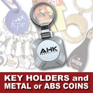 AHK Solutions Products - Key Holders and Metal or ABS Coins